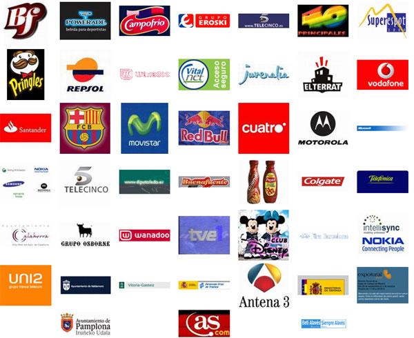 logotipos de varios clientes de eventos autol